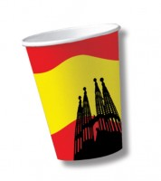 """Pappbecher """"Spanien"""" - 10 Stück"""