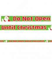 "Absperrband ""Do Not Open Until Christmas"" - 15,24 m"