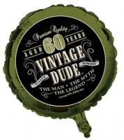 """Folienballon """"Vintage Dude - 60. Geburtstag"""""""