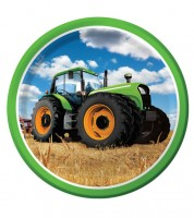 """Pappteller """"Traktor"""" - 8 Stück"""