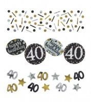 """Konfetti """"Sparkling Celebration"""" - 40. Geburtstag - 34 g"""