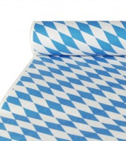 """Papier-Tischdecke auf Rolle """"Bayrisch Blau"""" - 10 m"""