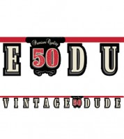 """Schriftzuggirlande """"Vintage Dude - 50. Geburtstag"""" - 2,67 m"""
