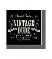 """Cocktail-Servietten """"Vintage Dude"""" - 16 Stück"""