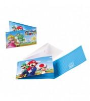 """Einladungskarten """"Nintendo Super Mario"""" - 8 Stück"""