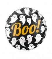 """Runder Folienballon mit Gespenstern """"Boo!"""""""