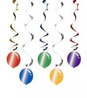 "Spiralgirlanden ""Bunte Ballons"" - 5 Stück"
