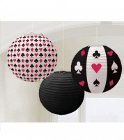 "Lampion-Set ""Casino"" - 3-teilig"