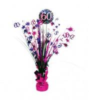 """Tischaufsteller """"Sparkling Pink"""" - 60. Geburtstag"""