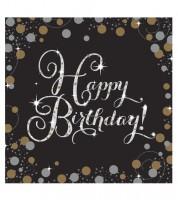 """Servietten """"Sparkling Celebration"""" - Happy Birthday - 16 Stück"""