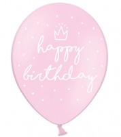 "Luftballons ""Happy Birthday"" - rosa - 50 Stück"