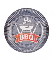 """Pappteller """"BBQ-Party"""" - 8 Stück"""