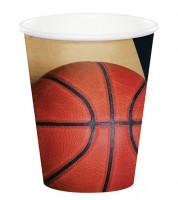 """Pappbecher """"Basketball"""" - 8 Stück"""