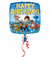 "Eckiger Folienballon ""Paw Patrol"" - Happy Birthday"