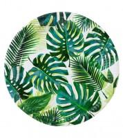 """Pappteller """"Tropical Fiesta"""" - Palmblätter - 8 Stück"""