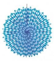 """Dekofächer """"Bayrisch Blau"""" - 75 cm"""