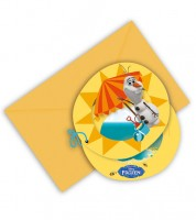 """Einladungskarten """"Olaf im Sommer"""" - 6 Stück"""