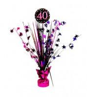 """Tischaufsteller """"Sparkling Pink"""" - 40. Geburtstag"""