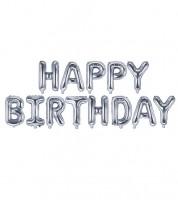 "Folienballon-Set ""Happy Birthday"" - silber - 340 x 35 cm"