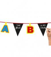 """Individualisierbare Wimpelgirlande """"ABC"""" - 4 m"""
