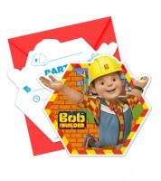 """Einladungskarten """"Bob der Baumeister"""" - 6 Stück"""