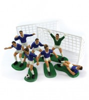 """Tortendekoration """"Fußballspiel"""" - blau - 9-teilig"""