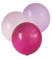 "Große Luftballons ""Farbmix Pink"" - 61 cm - 3-teilig"