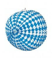 """Papierlampion """"Bayrisch Blau"""" - 31 cm"""