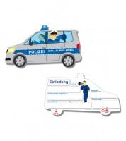 """Einladungskarten """"Polizei"""" - 6 Stück"""