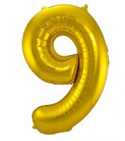 "SuperShape Folienballon ""9"" - gold"