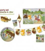 """Party-Set """"Ritter und Drache"""" für 8 Personen"""