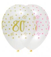 "Luftballon-Set ""Rosa Party"" - 80. Geburtstag - 6 Stück"