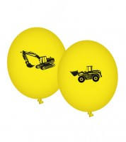 """Luftballons """"Achtung Baustelle"""" - 8 Stück"""