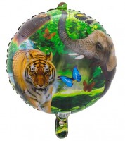 "Runder Folienballon ""Safari-Party"""
