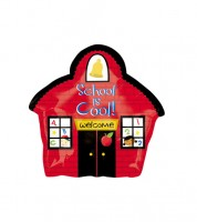 "Juniorshape-Folienballon Schulhaus ""School is cool"""