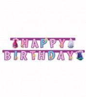 "Happy Birthday-Girlande ""Trolls"" - 1,9 m"