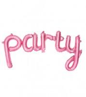 "Script-Folienballon ""Party"" - pink - 80 x 40 cm"
