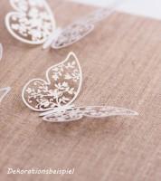 """Papierdeko """"Schmetterlinge mit Blumen"""" - 6,5 cm - 10 Stück"""