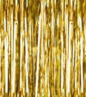 Glitzer-Vorhang - gold - 0,9 x 2,5 m