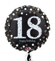 "Runder Folienballon ""Sparkling Celebration"" - 18. Geburtstag"