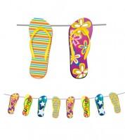"""Wimpelgirlande """"Flip Flops"""" - 10 m"""