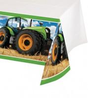 """Kunststoff-Tischdecke """"Traktor"""" - 137 x 259 cm"""