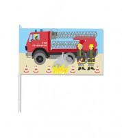 """Papierflaggen """"Feuerwehr"""" - 8 Stück"""