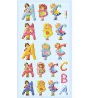 """Softy-Sticker """"ABC Mädchen"""" - 1 Bogen"""