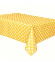 """Plastiktischdecke """"Big Dots"""" - gelb"""