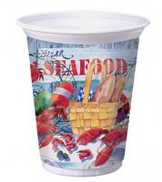 "Plastikbecher ""Seafood"" - 8 Stück"