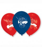"Luftballon-Set ""Spider-Man"" - blau/rot - 6 Stück"