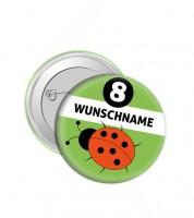 "Dein Button ""Marienkäfer"" - Wunschtext"