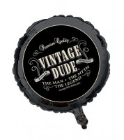 "Folienballon ""Vintage Dude"""