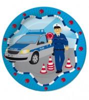 """Pappteller """"Polizei"""" - 8 Stück"""